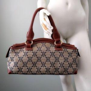Vintage Celine Macadam Brocade Shoulder Hobo Bag
